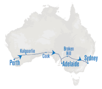 Route of the Indian Pacific train